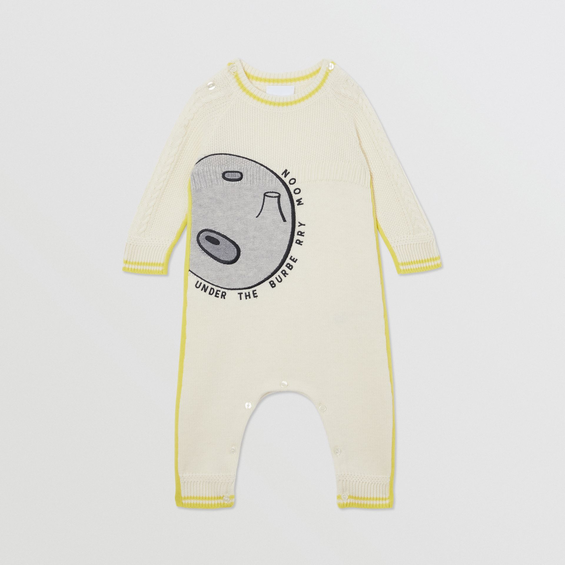 Moon Motif Wool Cashmere Two-piece Baby Gift Set in Ivory - Children | Burberry United Kingdom - gallery image 2