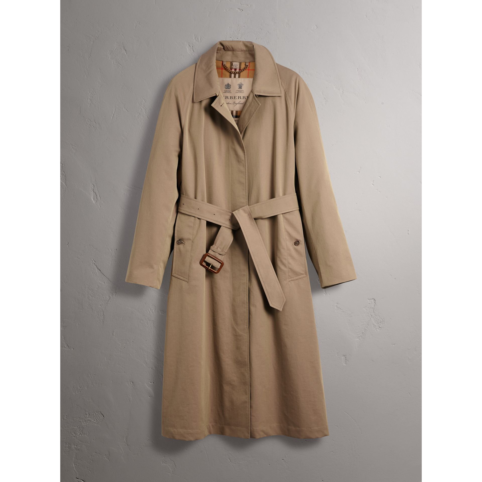 The Brighton – Extra-long Car Coat in Taupe Brown - Women | Burberry Australia - gallery image 4