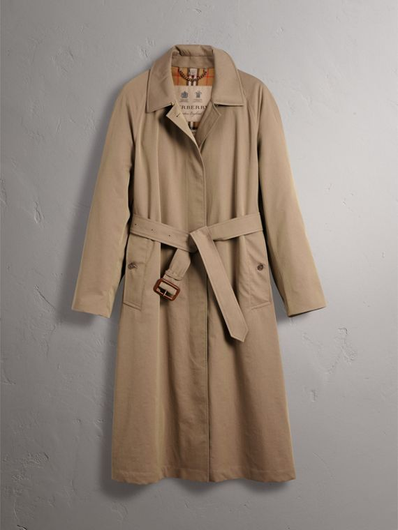 The Brighton – Extra-long Car Coat in Taupe Brown - Women | Burberry Australia - cell image 3