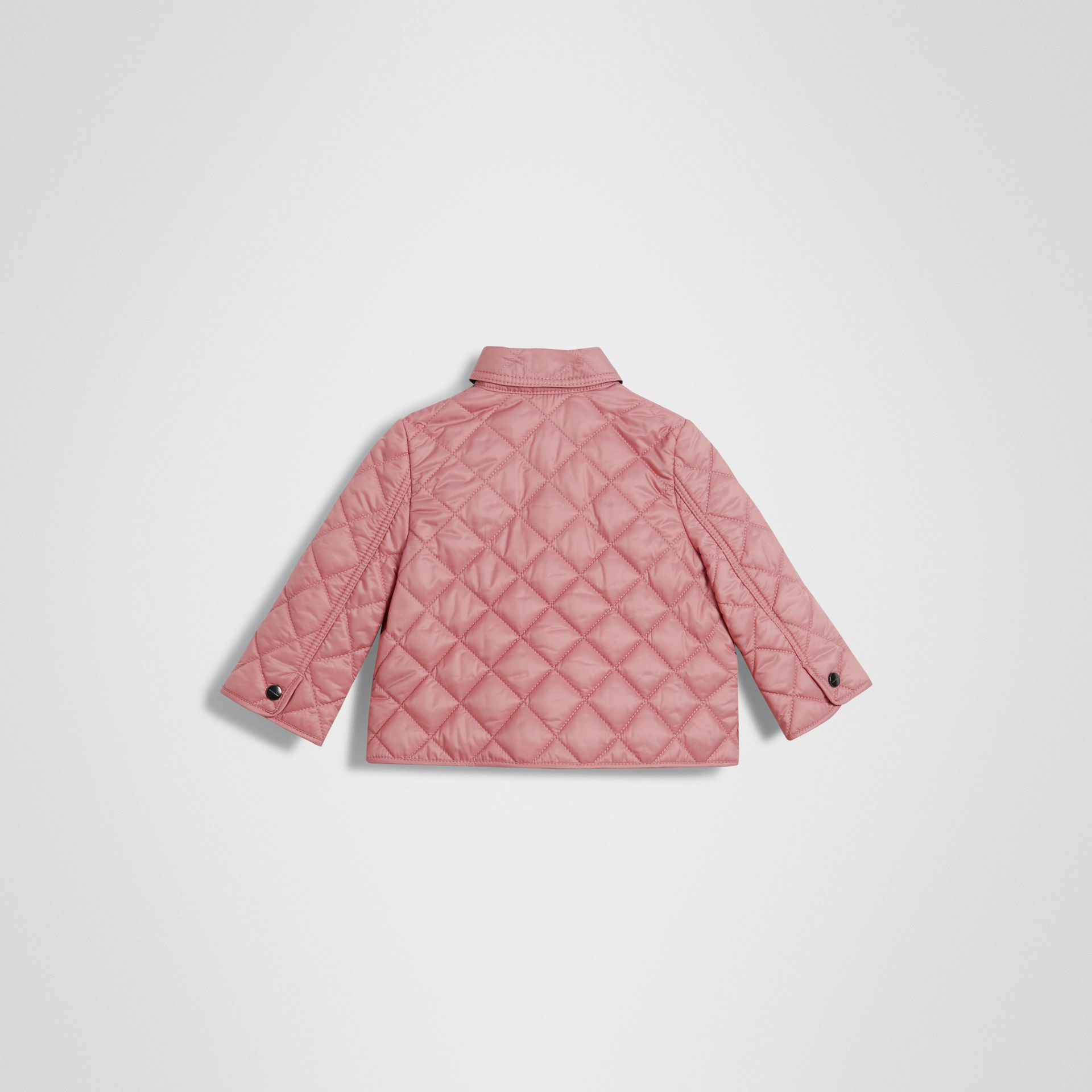 Lightweight Diamond Quilted Jacket in Pale Ash Rose - Children | Burberry - gallery image 3