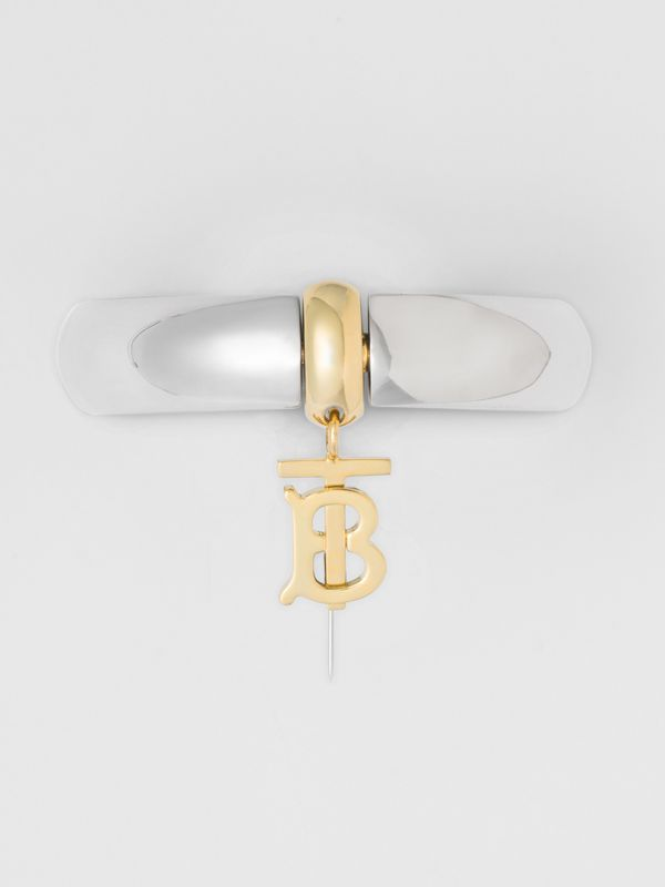 Palladium-Plated Monogram Motif Bangle in Palladio - Women | Burberry United Kingdom - cell image 3