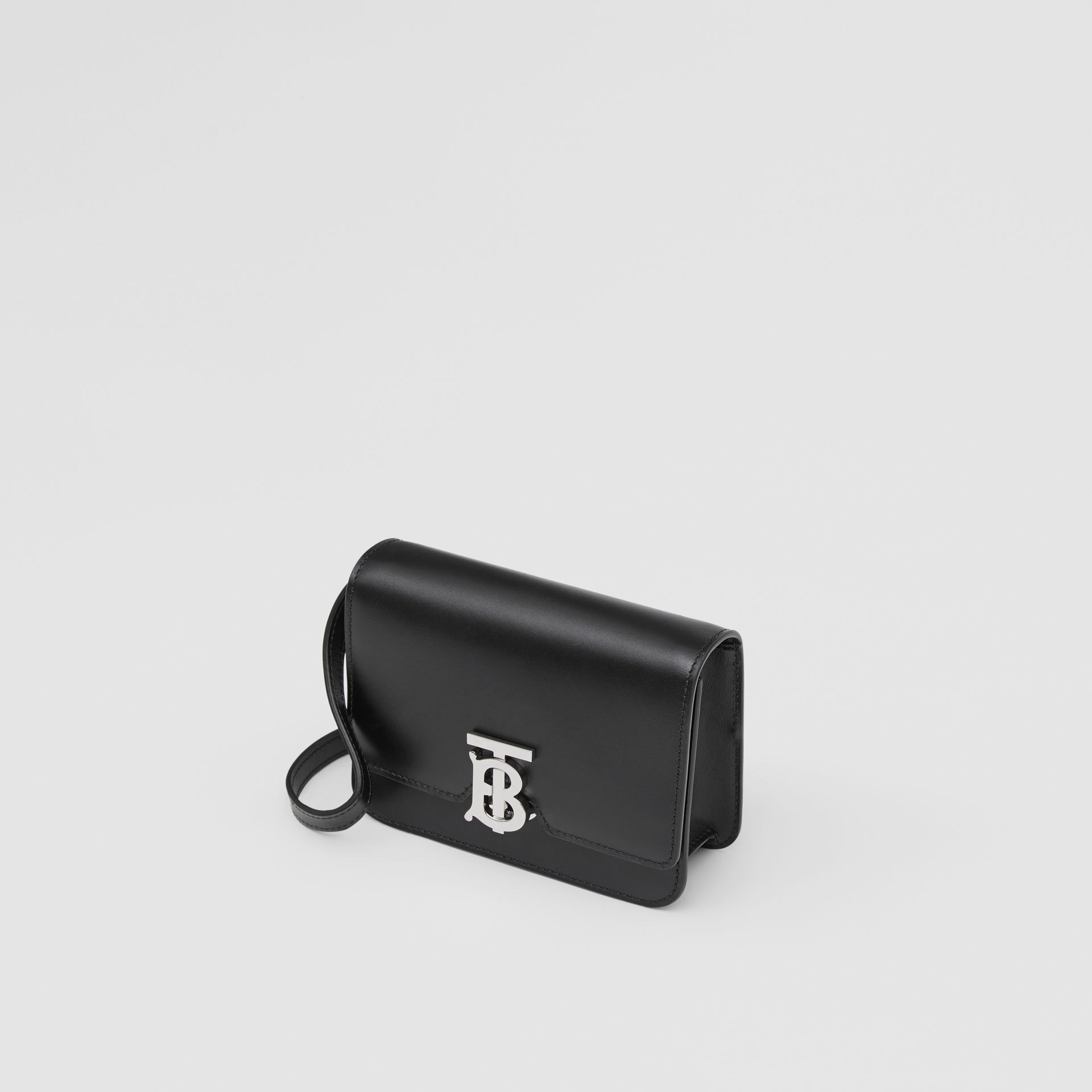 Mini Leather TB Bag in Black - Women | Burberry - gallery image 3