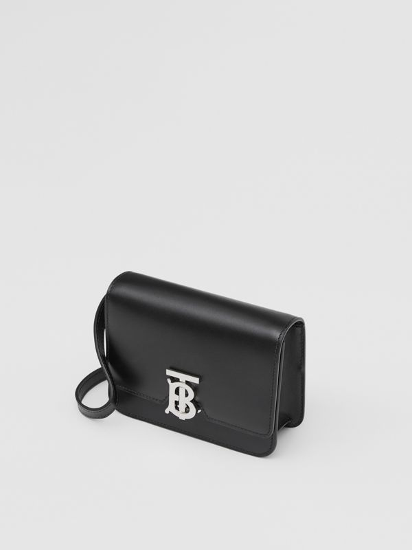 Mini Leather TB Bag in Black - Women | Burberry - cell image 3