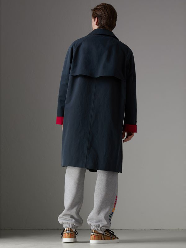 Reissued Waxed Cotton Gabardine Car Coat in Navy - Men | Burberry United Kingdom - cell image 2