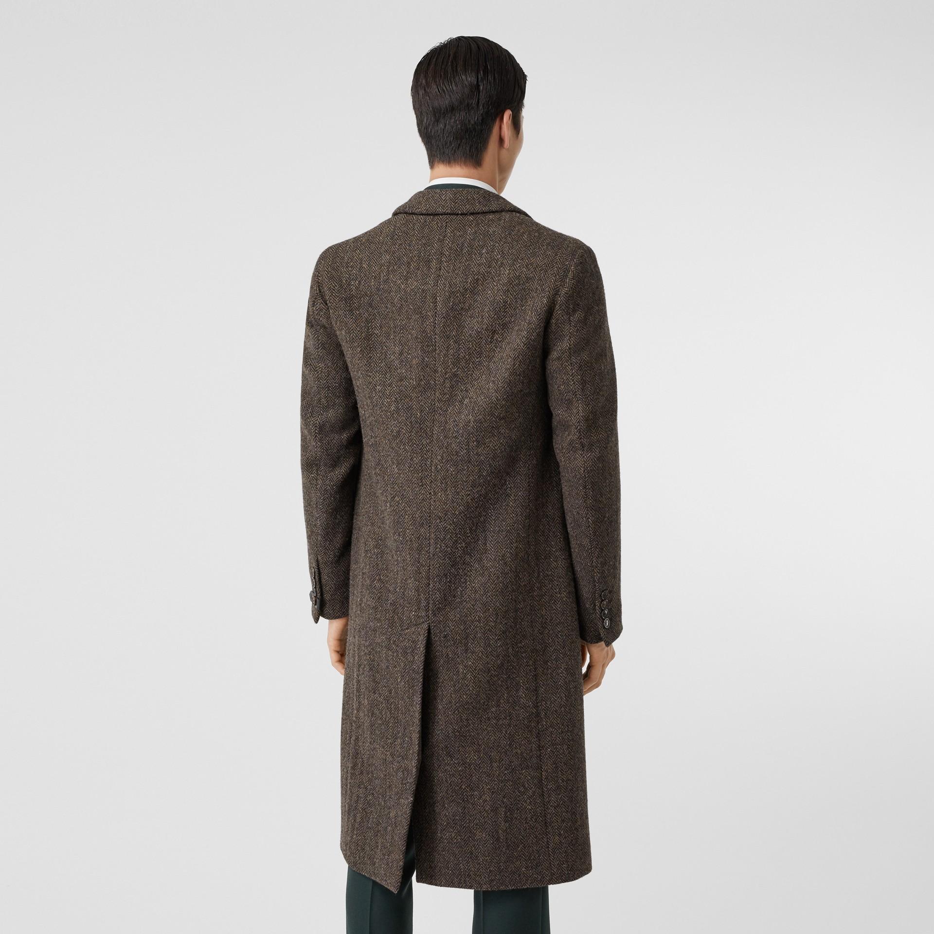 Herringbone Wool Tweed Coat in Brown - Men | Burberry Canada - gallery image 2