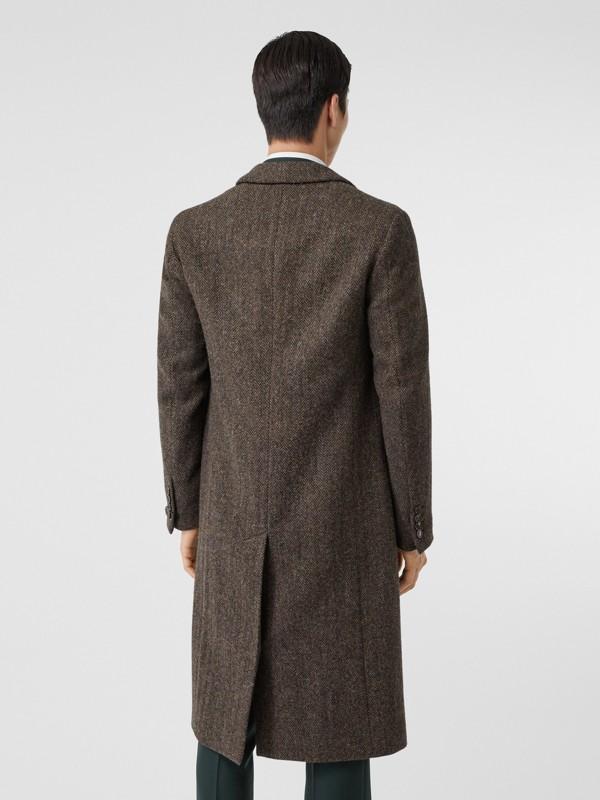 Herringbone Wool Tweed Coat in Brown - Men | Burberry Canada - cell image 2