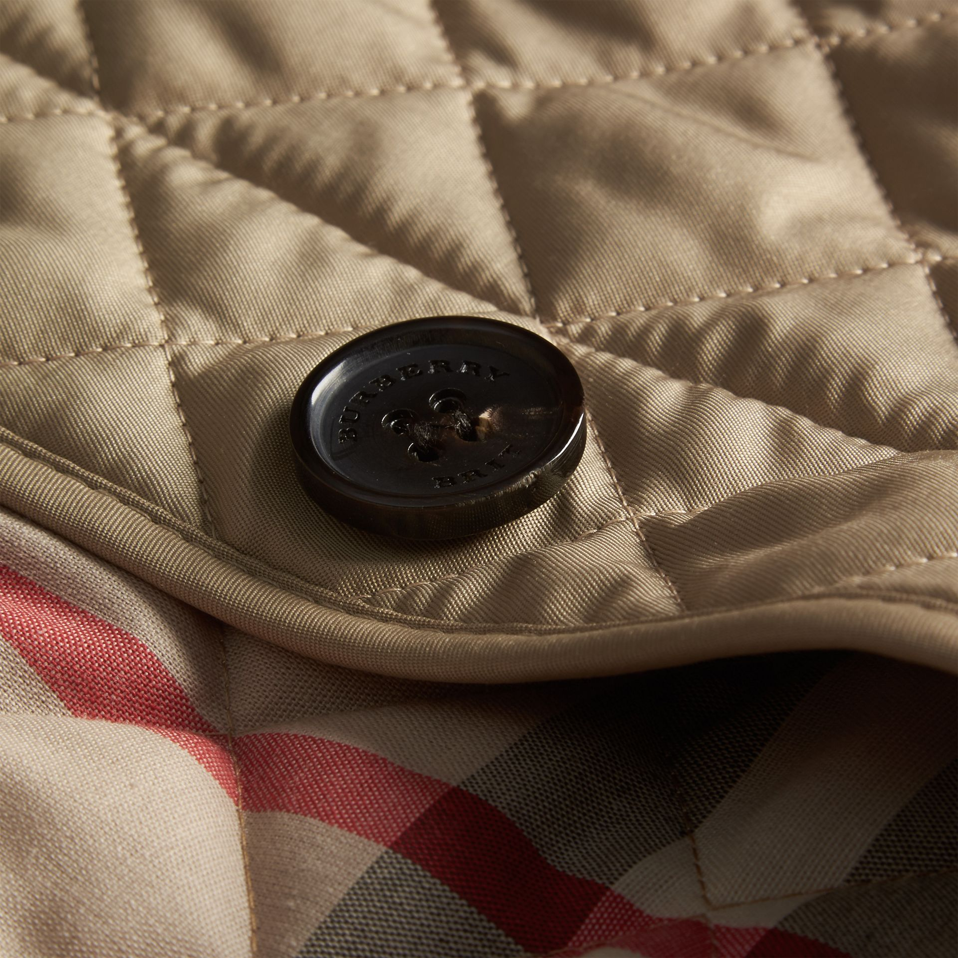 Diamond Quilted Jacket in Canvas - gallery image 2