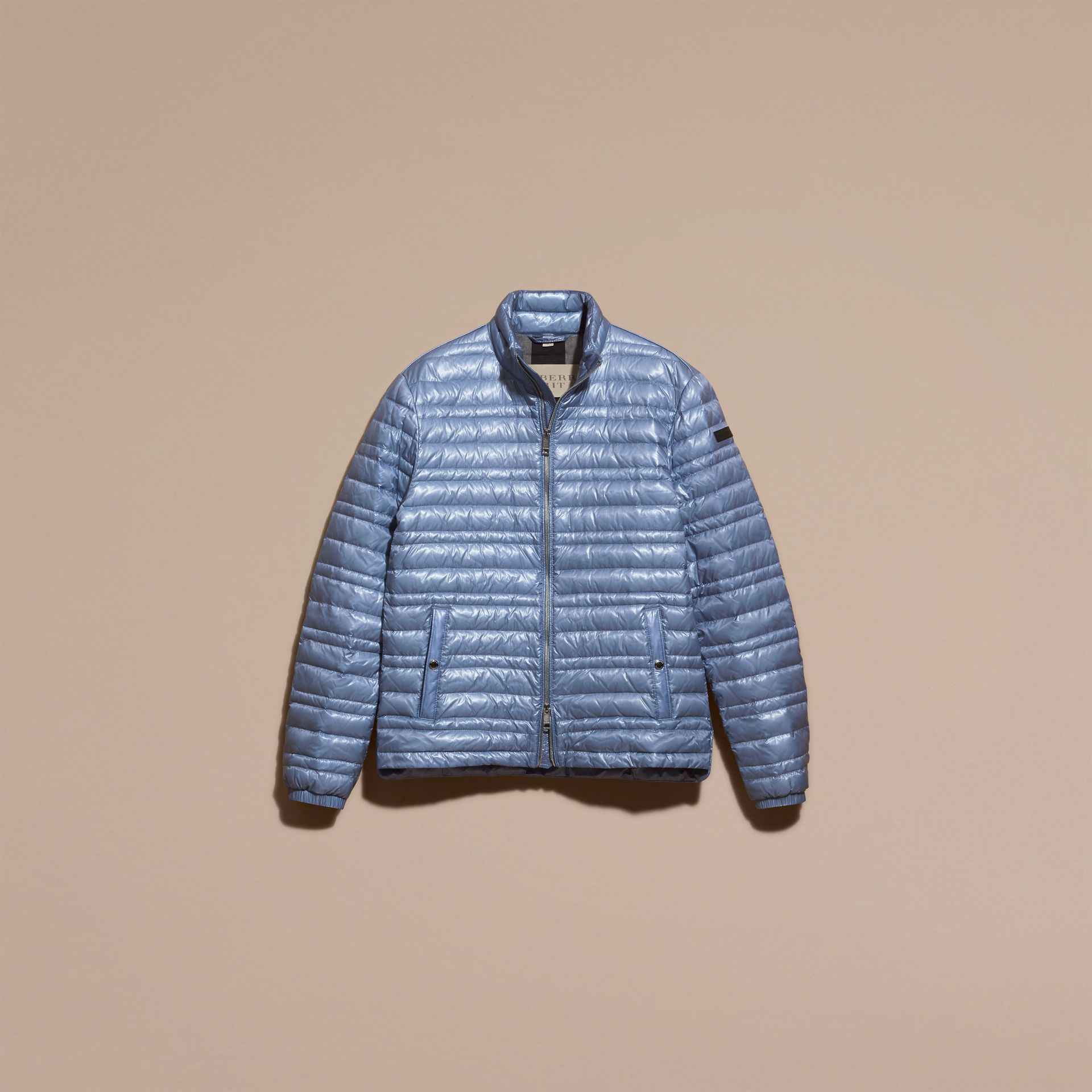 Pale blue Lightweight Down-filled Jacket Pale Blue - gallery image 4