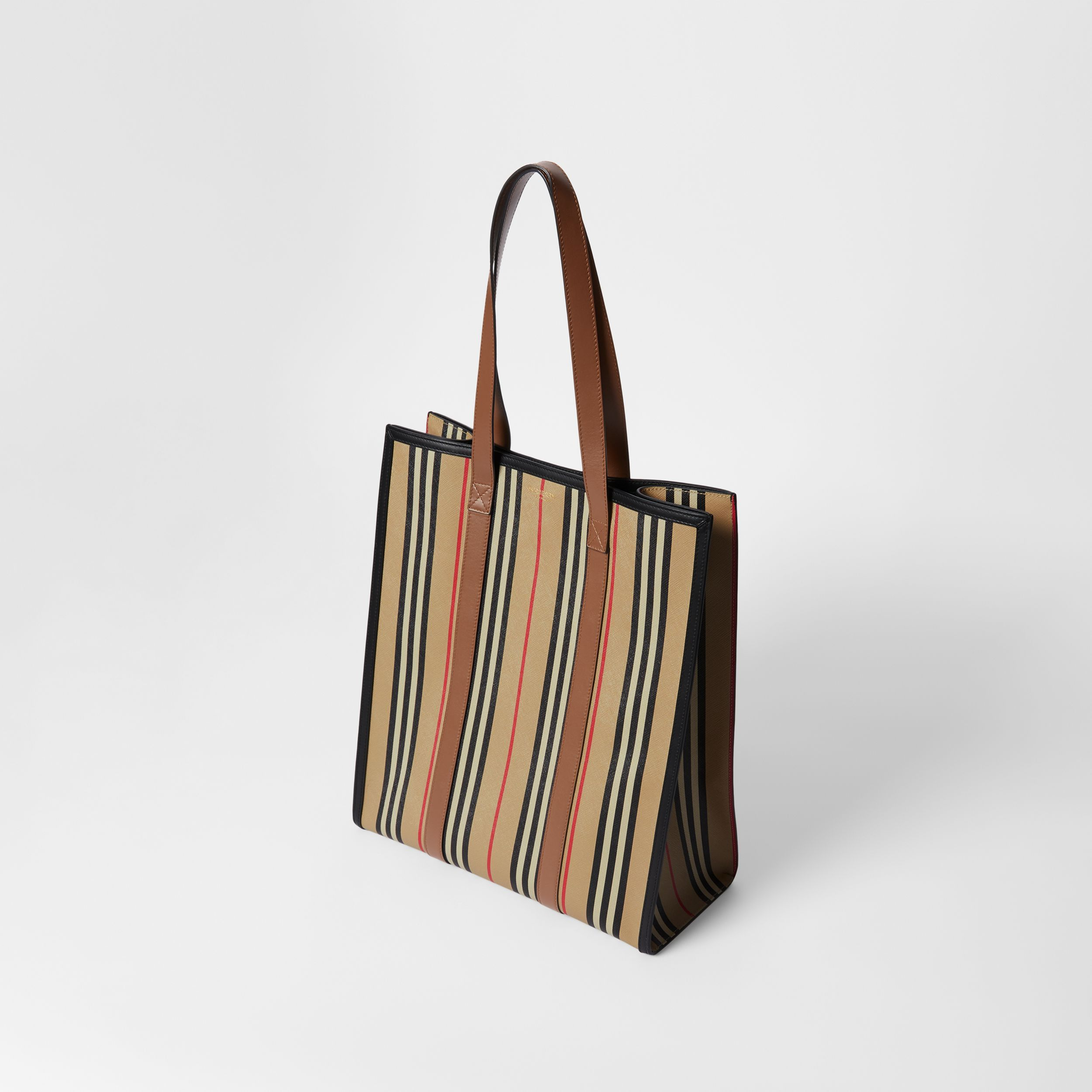 Icon Stripe E-canvas Portrait Tote Bag in Archive Beige | Burberry - 4