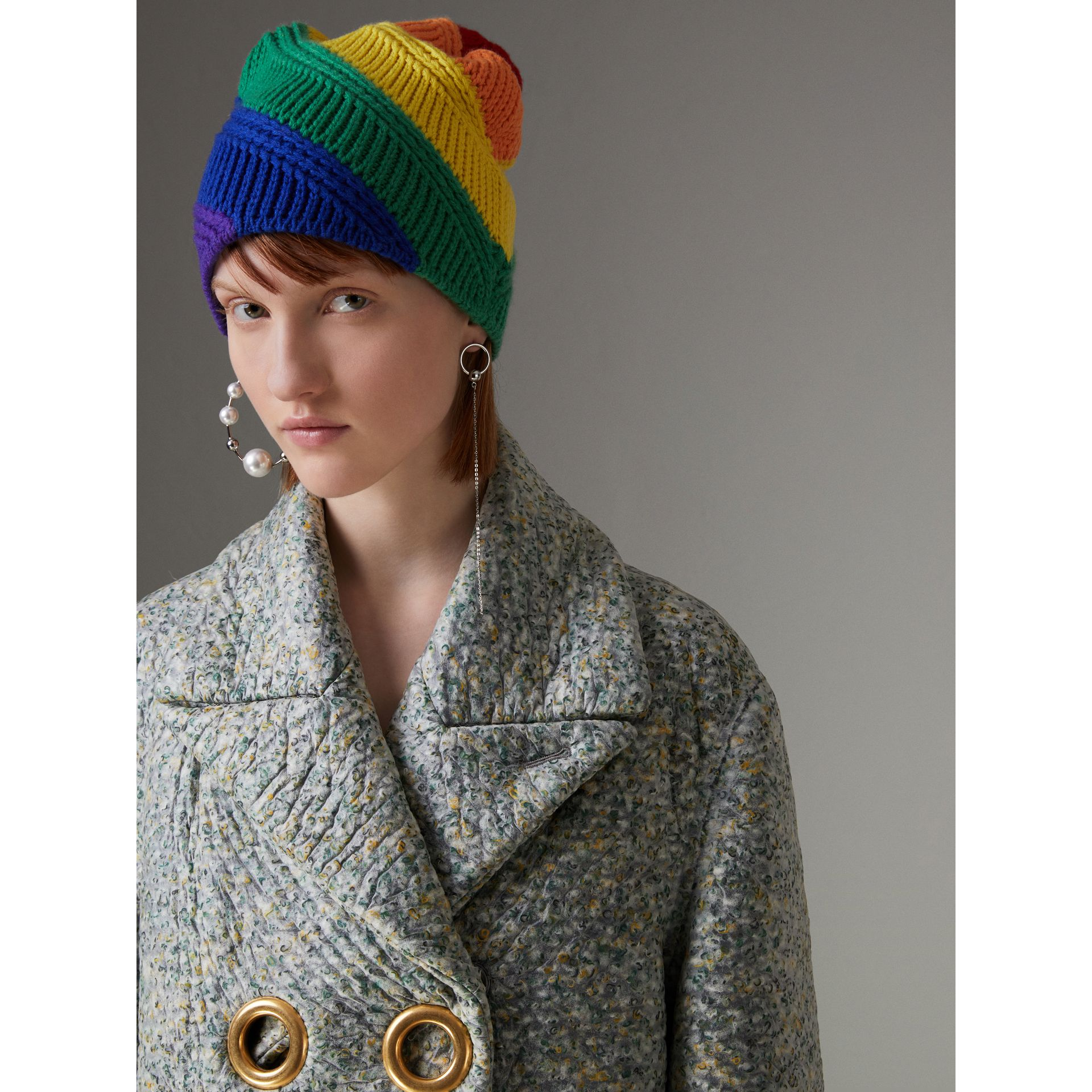 Rainbow Cashmere Beanie | Burberry United Kingdom - gallery image 2