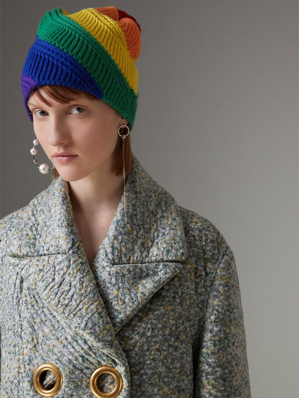 Rainbow Wool Cashmere Beanie | Burberry United Kingdom - cell image 2