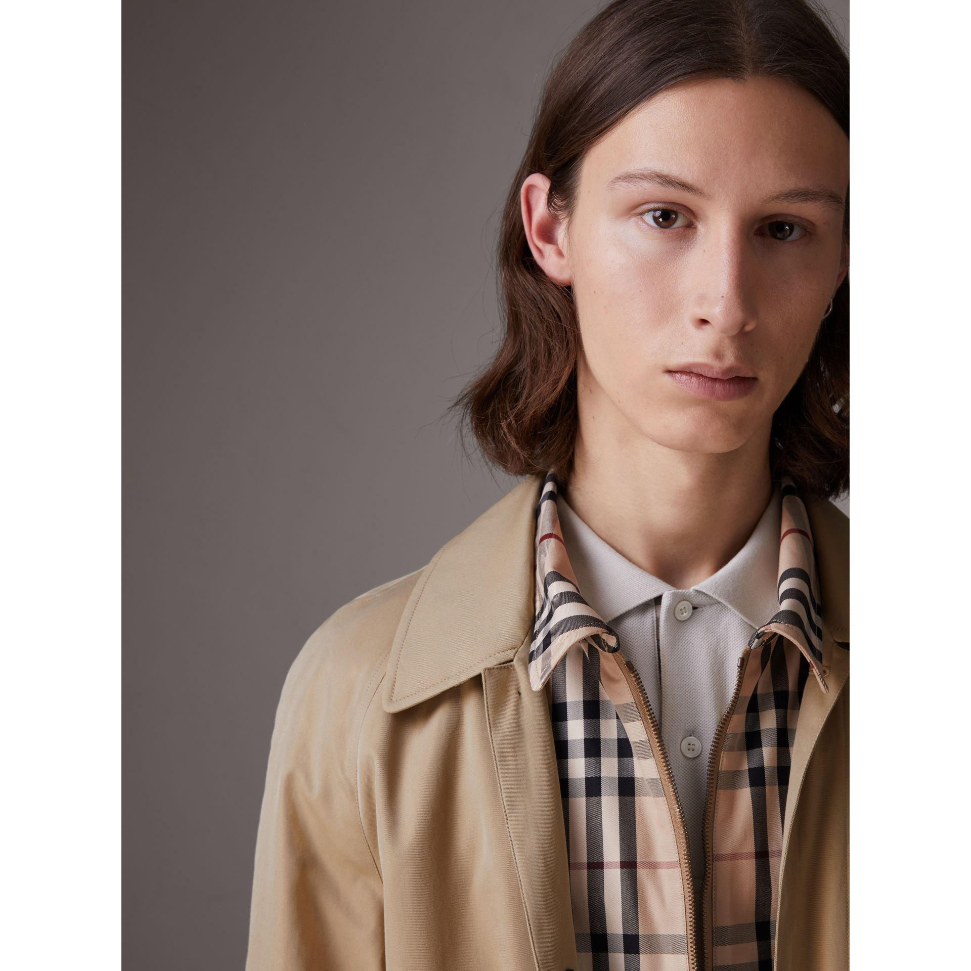 Gosha x Burberry Reconstructed Car Coat in Honey - Men | Burberry United States - gallery image 6