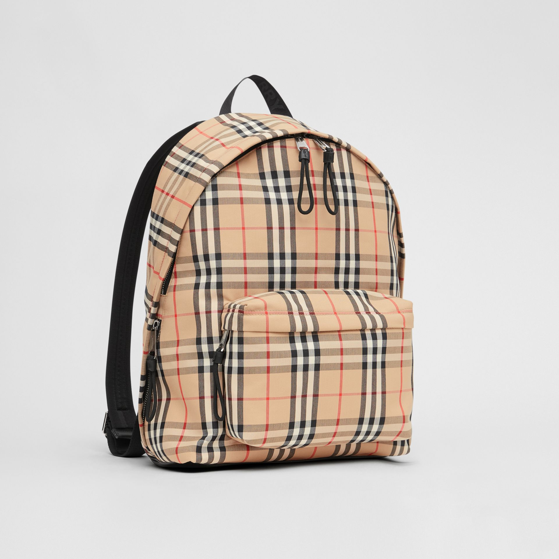Vintage Check Nylon Backpack in Archive Beige | Burberry Australia - gallery image 6