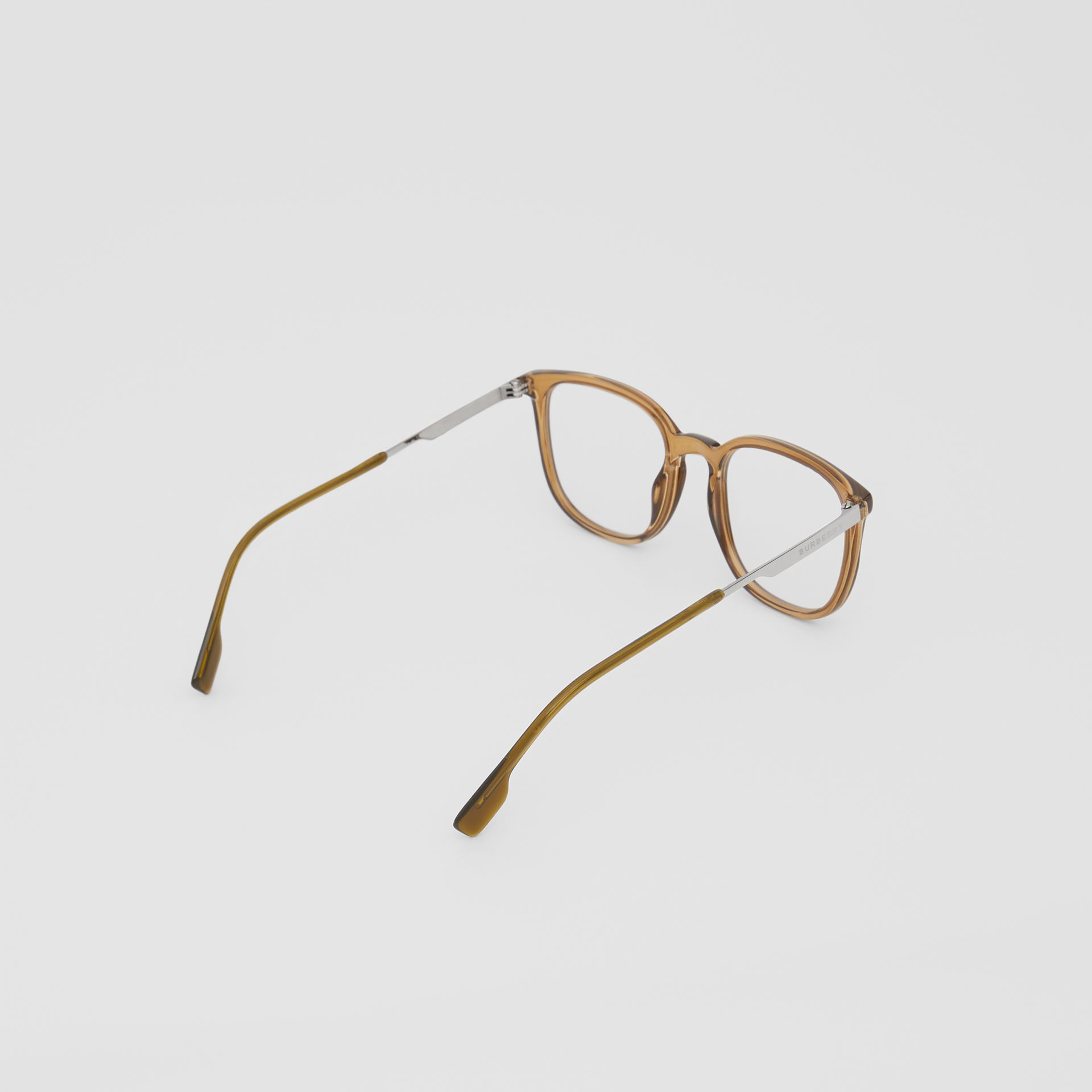 Square Optical Frames in Olive Green | Burberry - gallery image 3