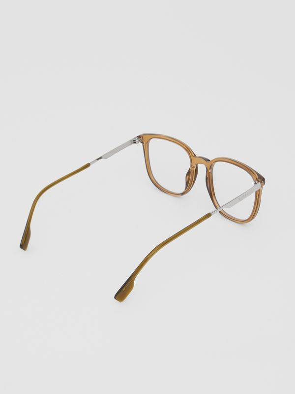Square Optical Frames in Olive Green | Burberry - cell image 3