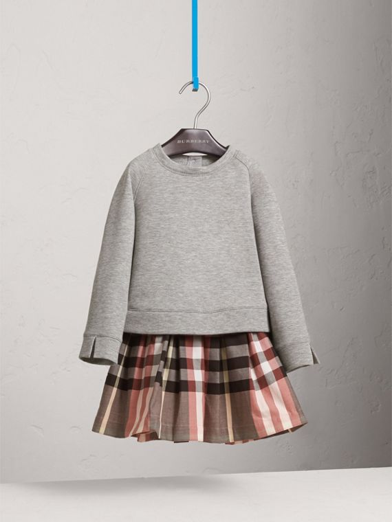 Contrast Check Sweater Dress - Girl | Burberry - cell image 2