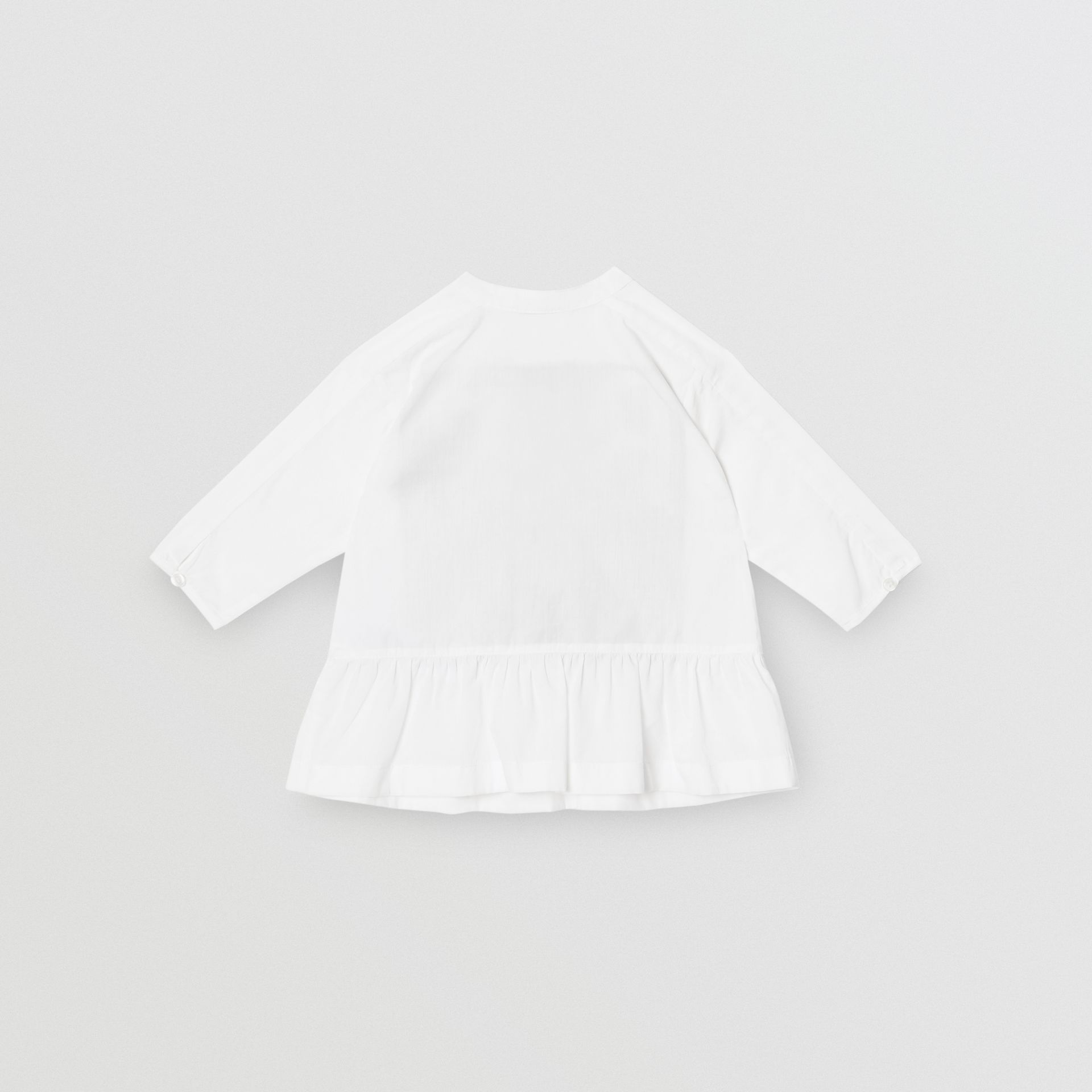 Logo and Archive Scarf Print Dress with Bloomers in Beige - Children | Burberry United Kingdom - gallery image 2
