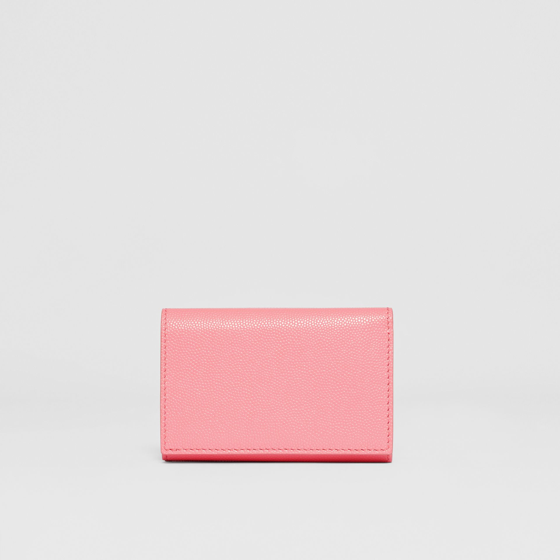 Small Grainy Leather Folding Wallet in Candy Floss/palladio - Women | Burberry - gallery image 4