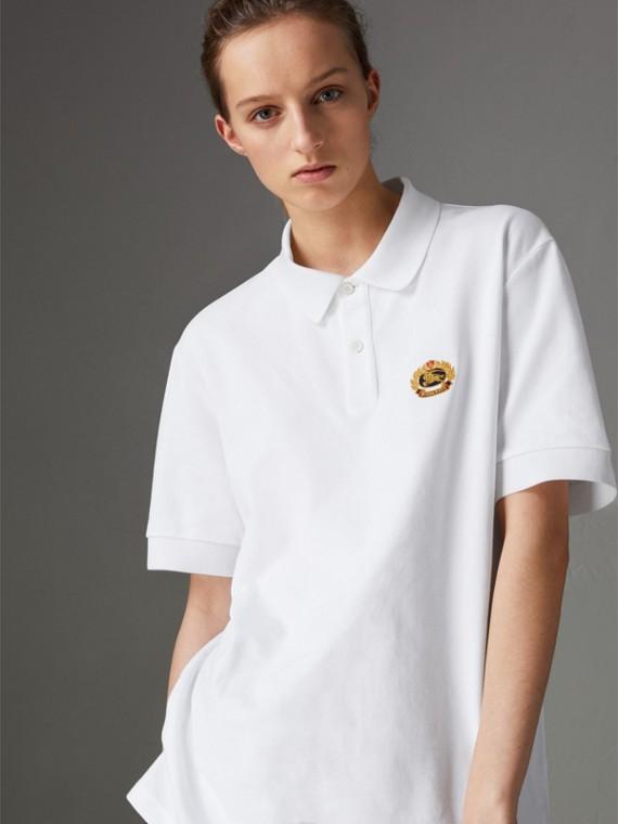 Camisa polo de algodão - Reedição (Branco)