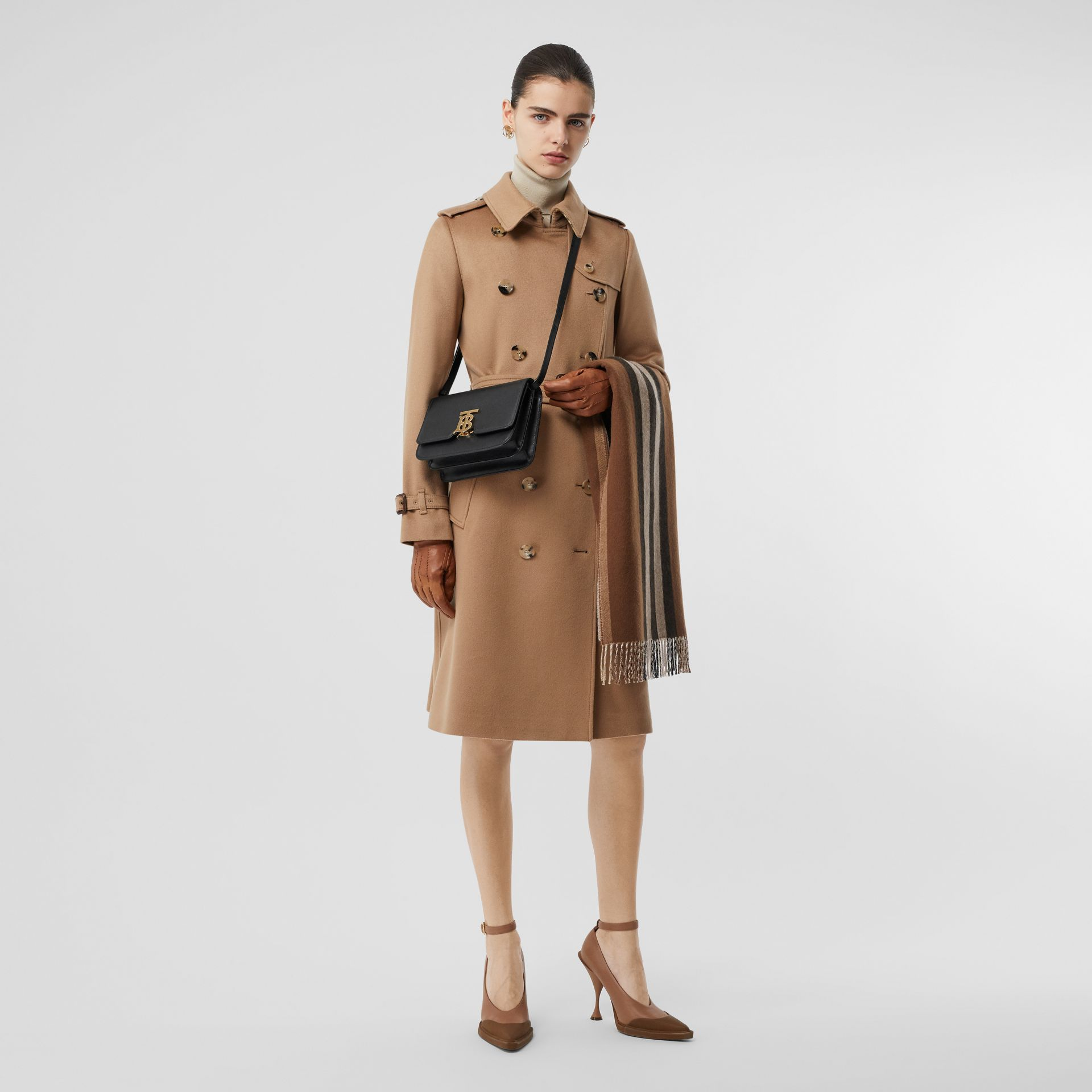 Small Grainy Leather TB Bag in Black - Women | Burberry - gallery image 8