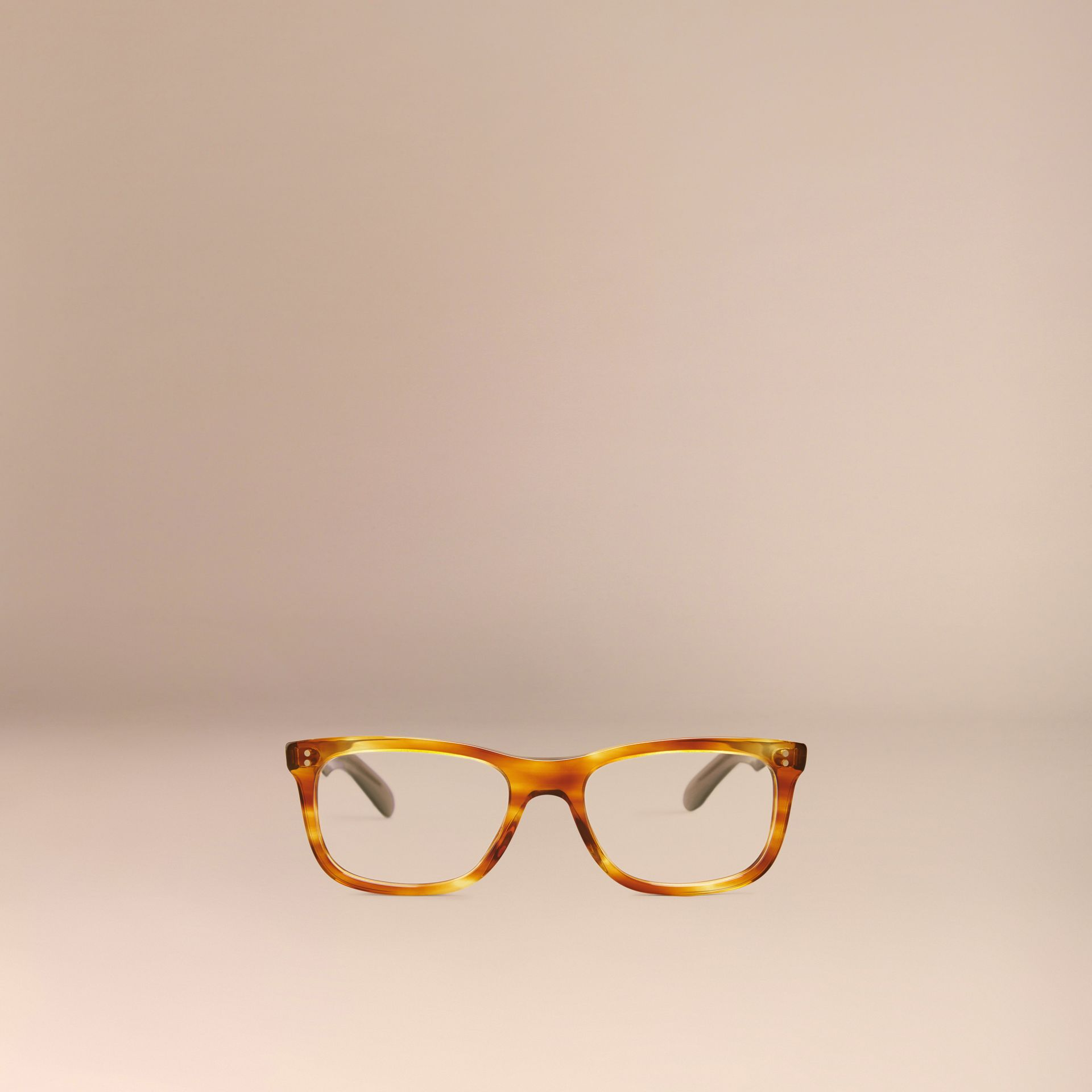Square Optical Frames Tortoise Amber - gallery image 2
