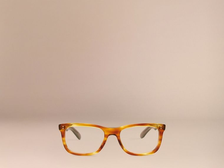 Square Optical Frames Tortoise Amber - cell image 1