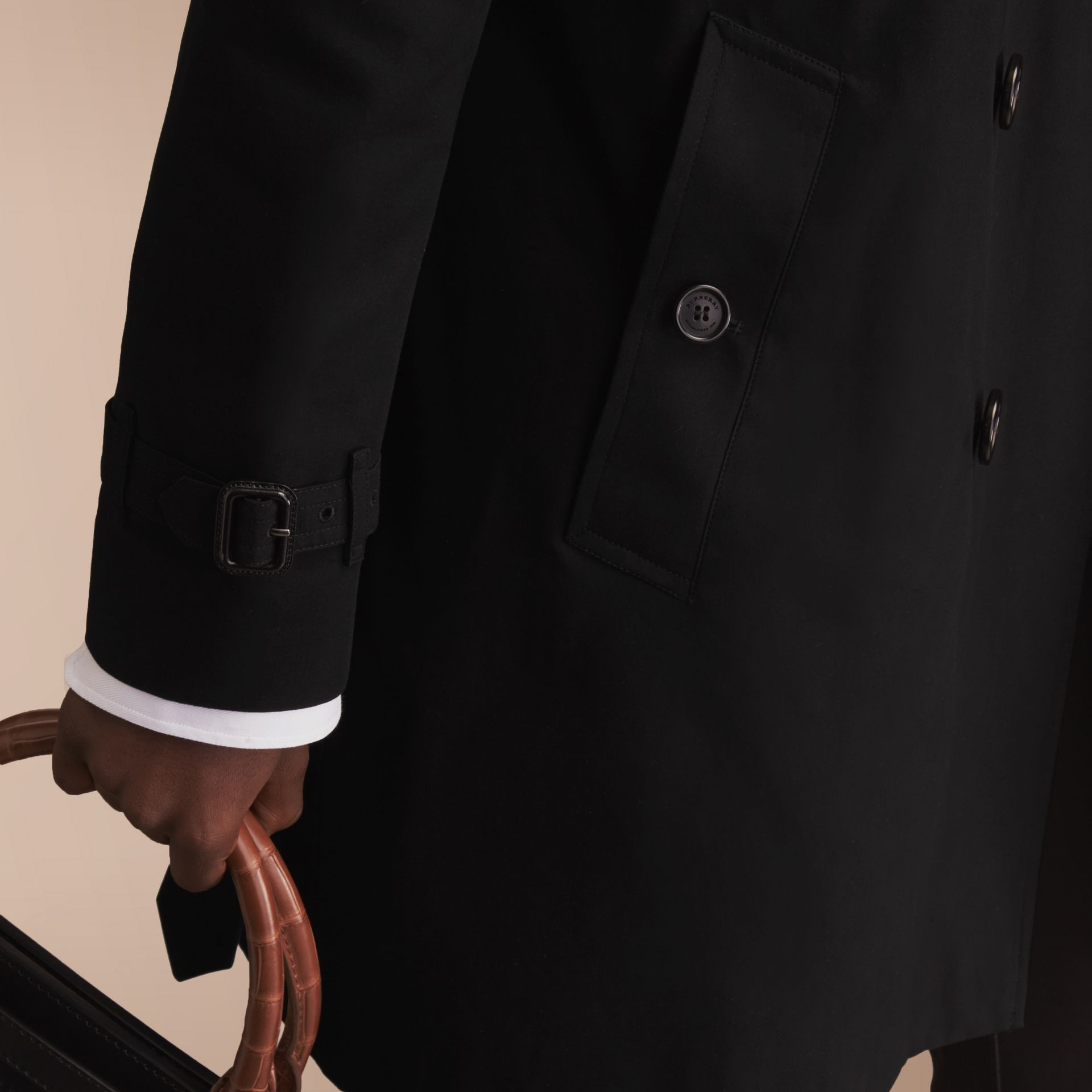 The Sandringham – Long Heritage Trench Coat in Black - gallery image 7