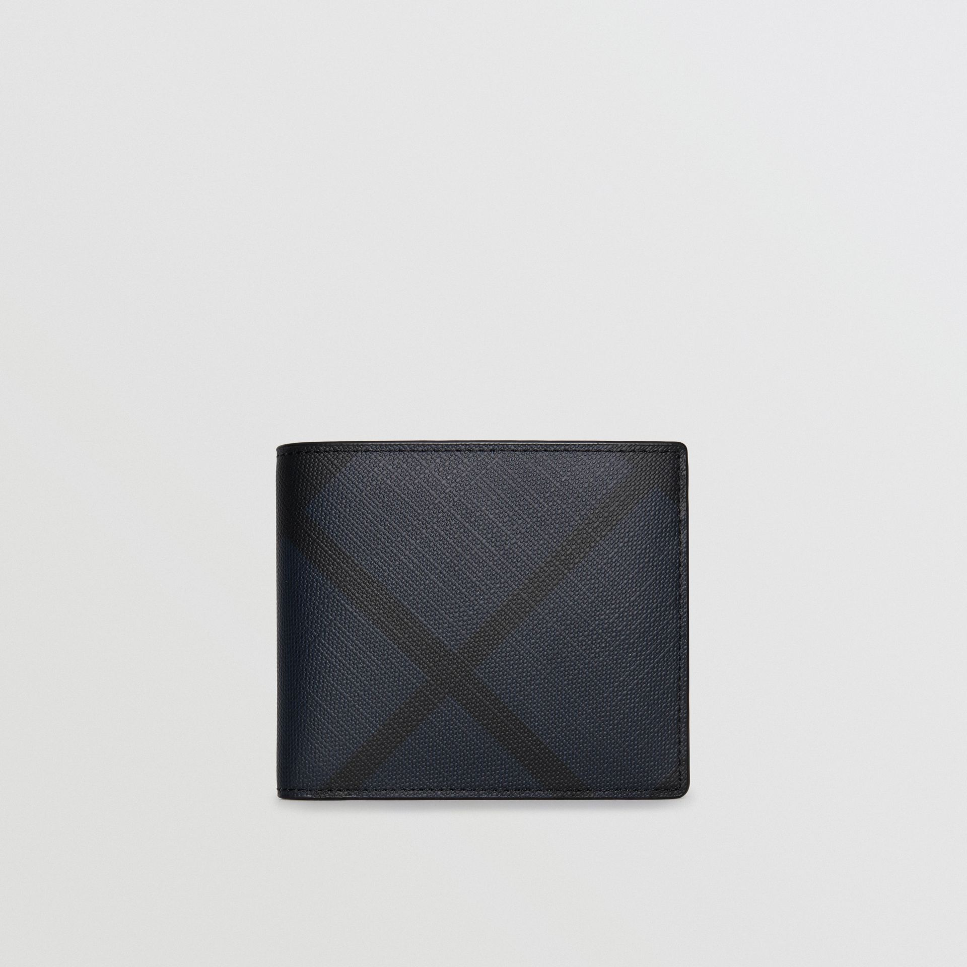 London Check International Bifold Wallet in Navy/black - Men | Burberry - gallery image 2