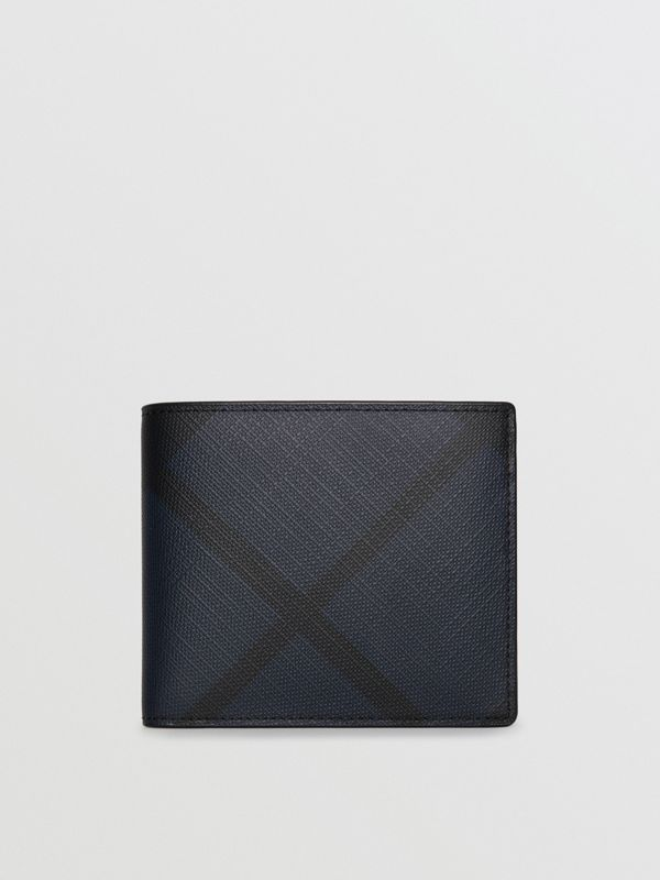 Cartera plegable para todas las divisas en London Checks (Azul Marino / Negro) - Hombre | Burberry - cell image 2
