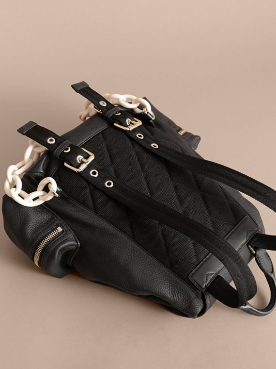The Medium Rucksack in Deerskin with Resin Chain Black - cell image 3