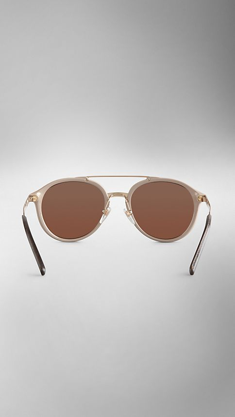 Honey Trench Collection Round Frame Sunglasses - Image 3