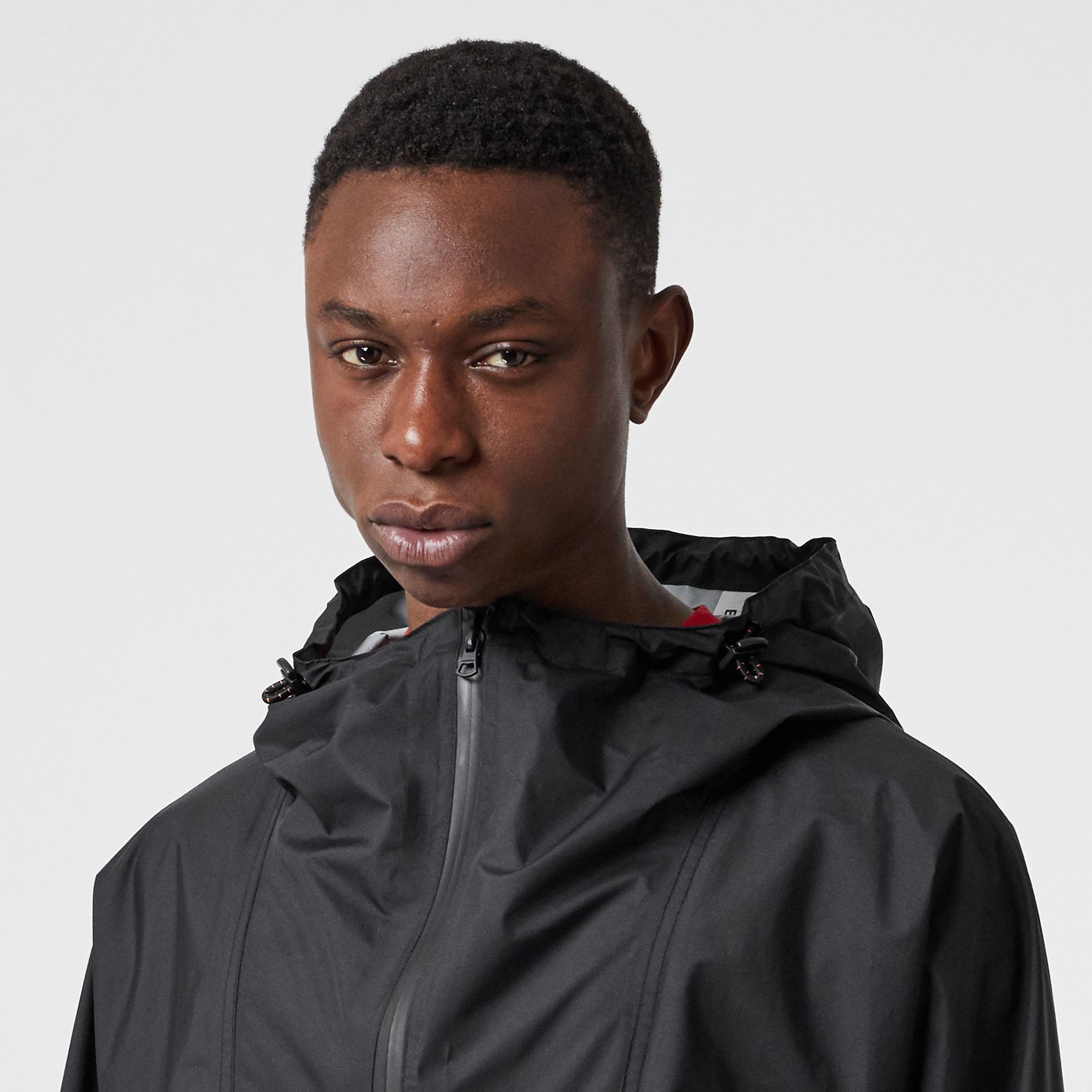 Logo Print Lightweight Cagoule in Black - Men | Burberry - gallery image 6
