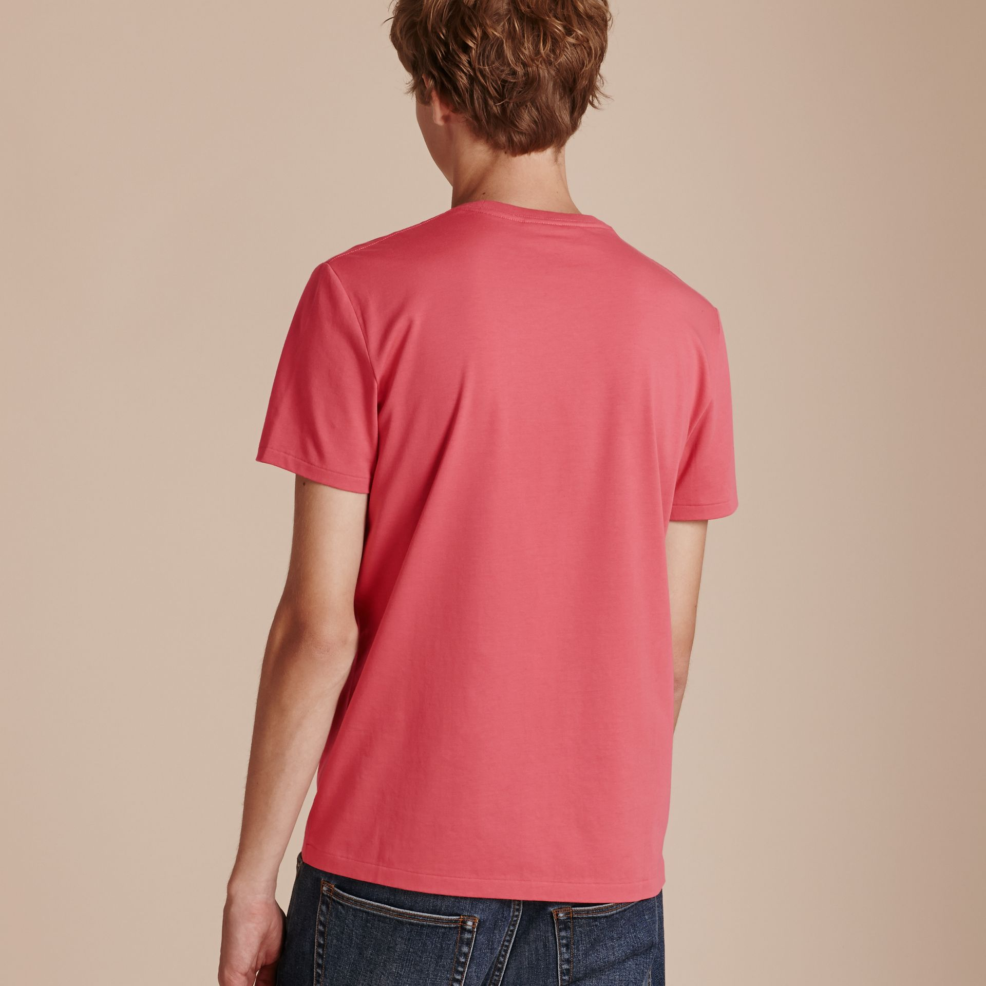 Cotton Jersey T-shirt Dusky Pink - gallery image 3