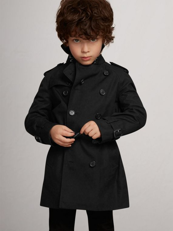 The Wiltshire – Heritage Trench Coat in Black