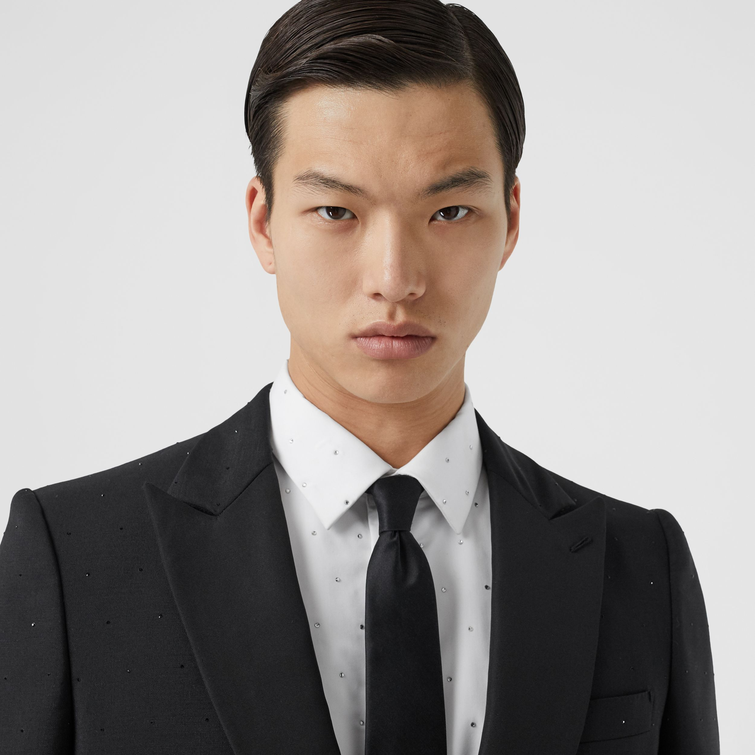 English Fit Embellished Wool Mohair Tailored Jacket in Black - Men | Burberry - 2
