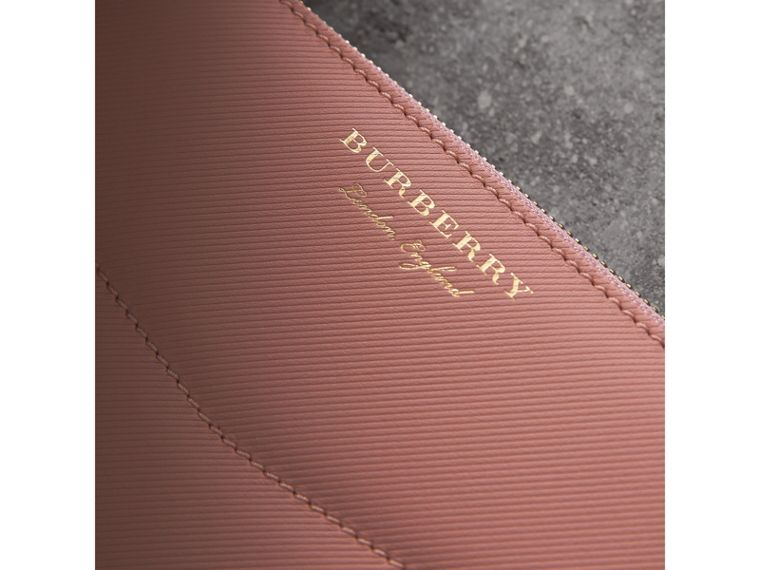 Two-tone Trench Leather Ziparound Wallet in Ash Rose/pale Clementine - Women | Burberry Canada - cell image 1
