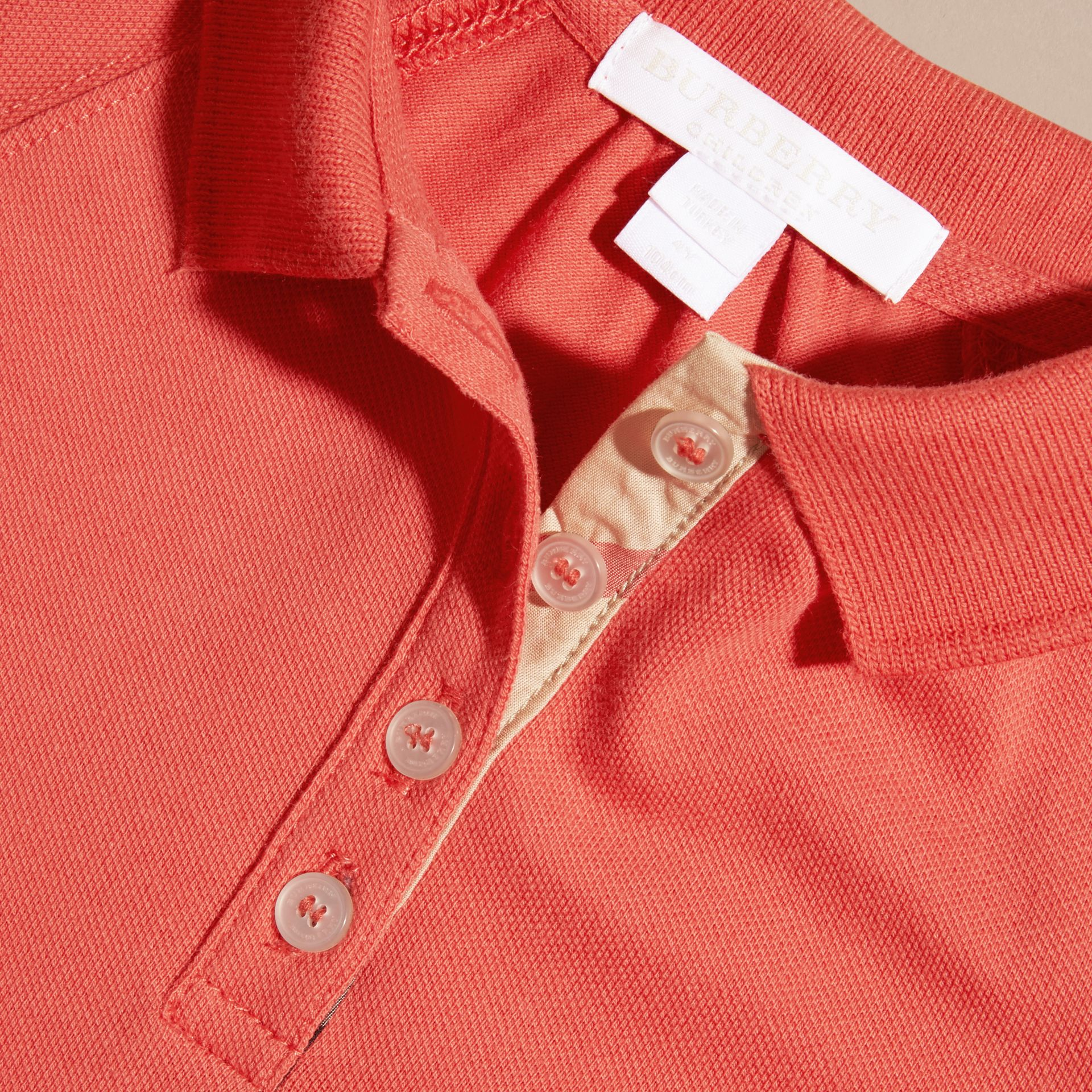 Check Placket Cotton Blend T-Shirt Dress - gallery image 2