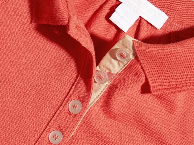 Check Placket Cotton Blend T-Shirt Dress - cell image 1