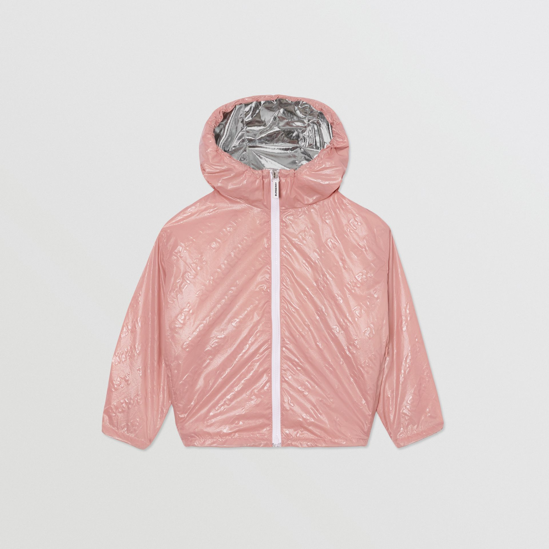 Logo Print Lightweight Hooded Jacket in Dusty Pink - Girl | Burberry United Kingdom - gallery image 0
