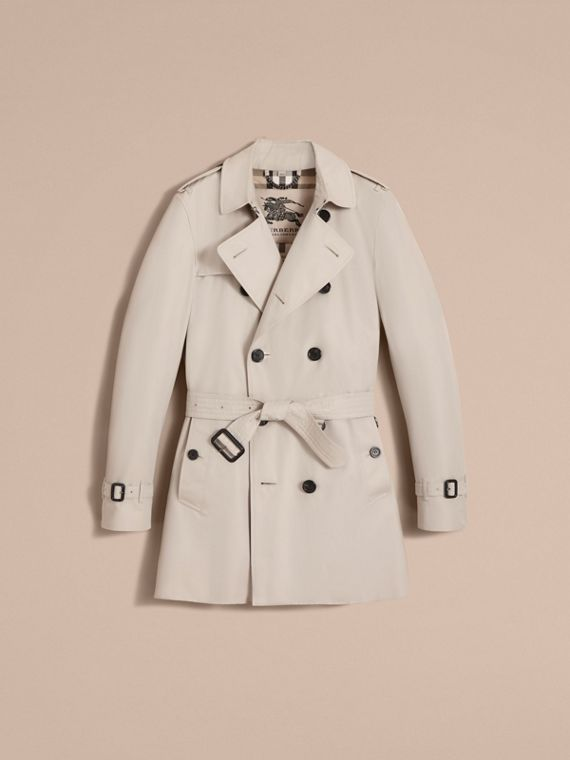 The Kensington – Mid-Length Heritage Trench Coat in Stone - Men | Burberry - cell image 3