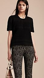 Short-sleeved Stitched Top