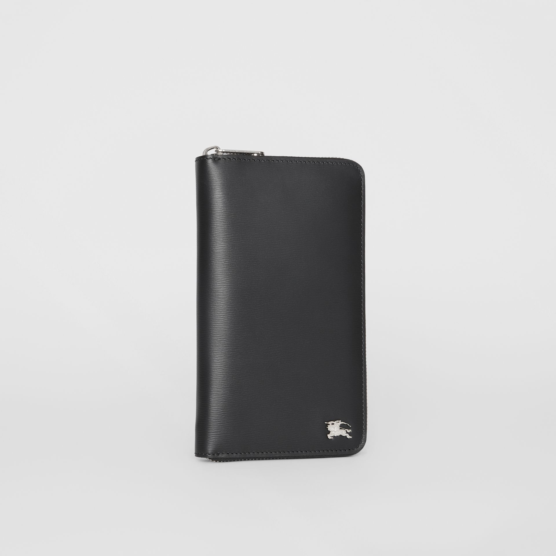 London Leather Ziparound Wallet in Black - Men | Burberry Singapore - gallery image 4