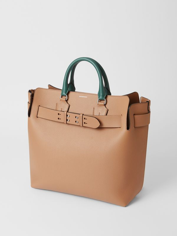 The Large Tri-tone Leather Belt Bag in Light Camel | Burberry Canada - cell image 2