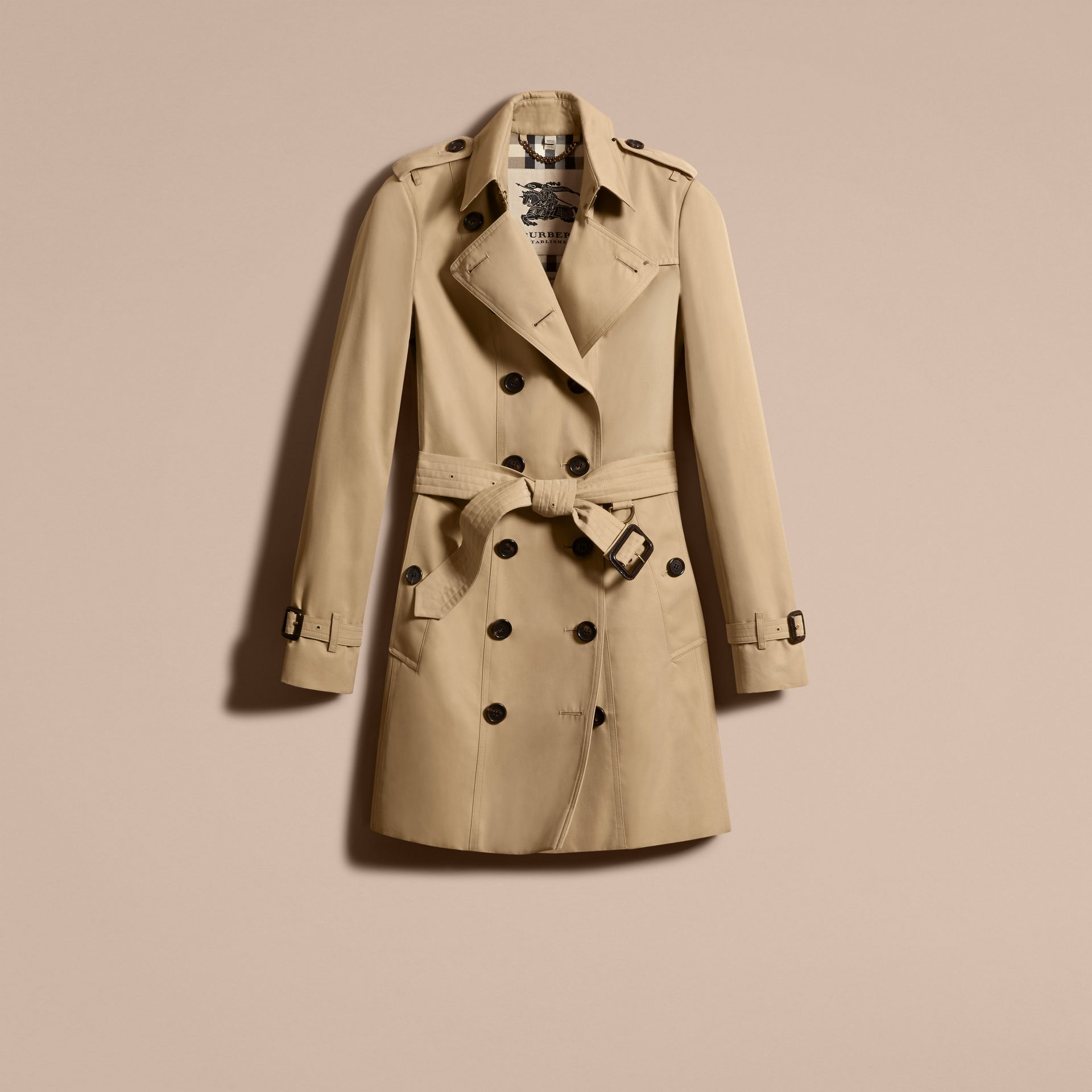Honey The Sandringham – Mid-Length Heritage Trench Coat Honey - gallery image 4