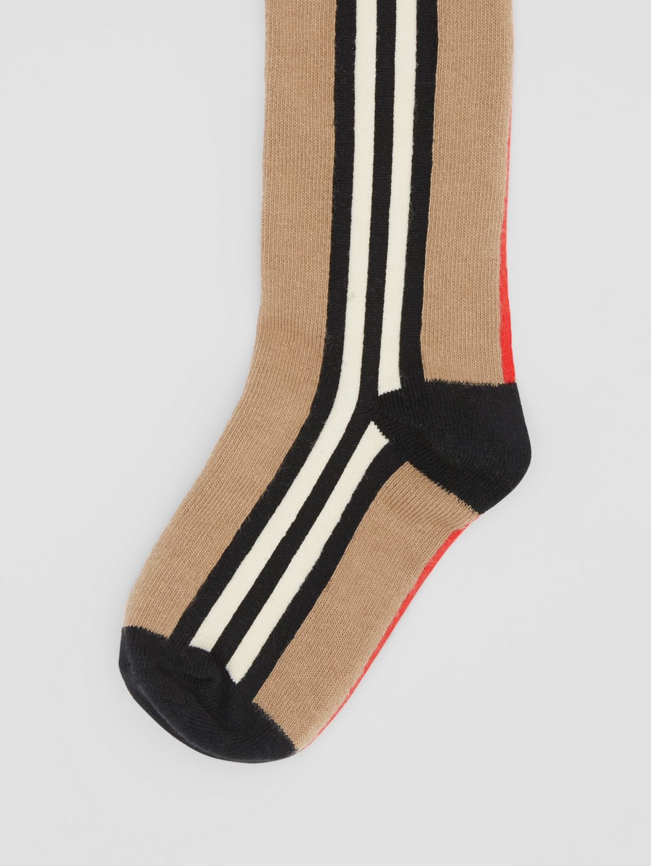 Icon Stripe Intarsia Cotton Blend Tights in Archive Beige