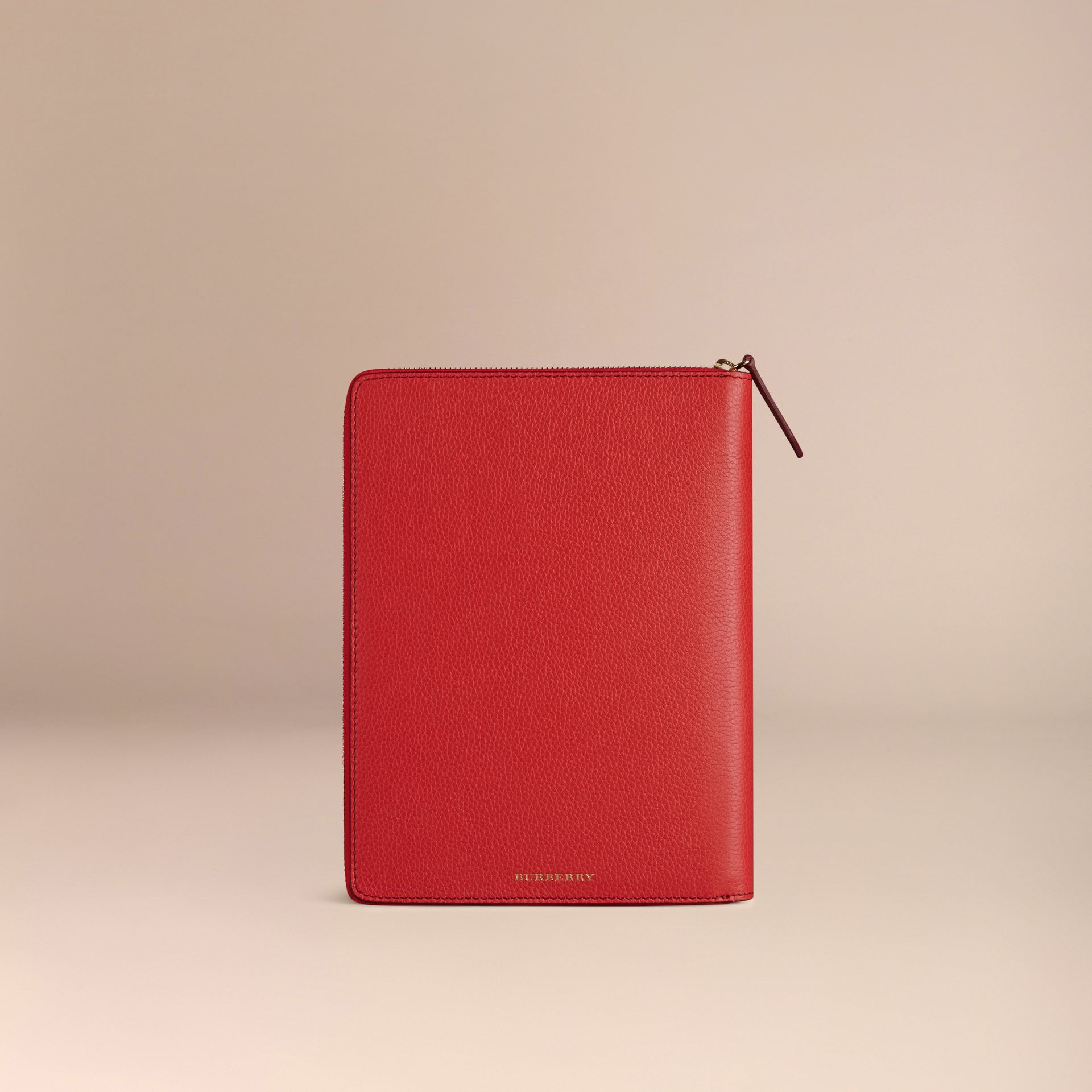 Ziparound Grainy Leather 18 Month 2016/17 A5 Diary Orange Red - gallery image 3