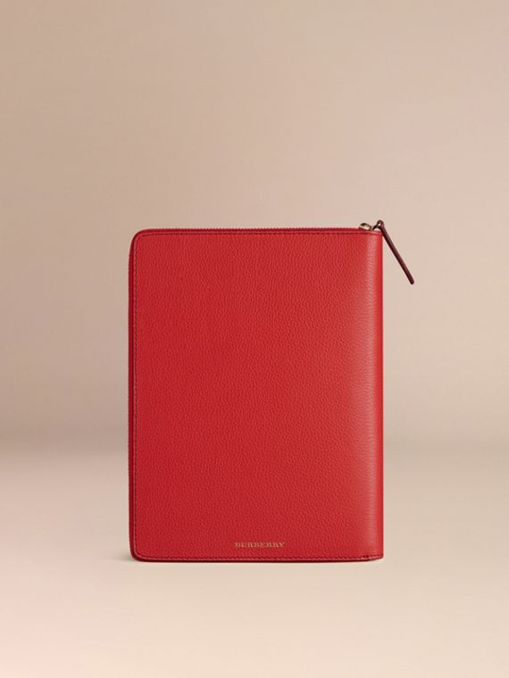 Ziparound Grainy Leather 18 Month 2016/17 A5 Diary in Orange Red | Burberry Australia - cell image 2