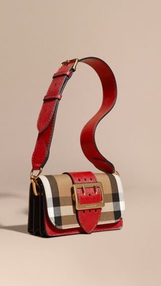 The Buckle Bag in House Check and Leather