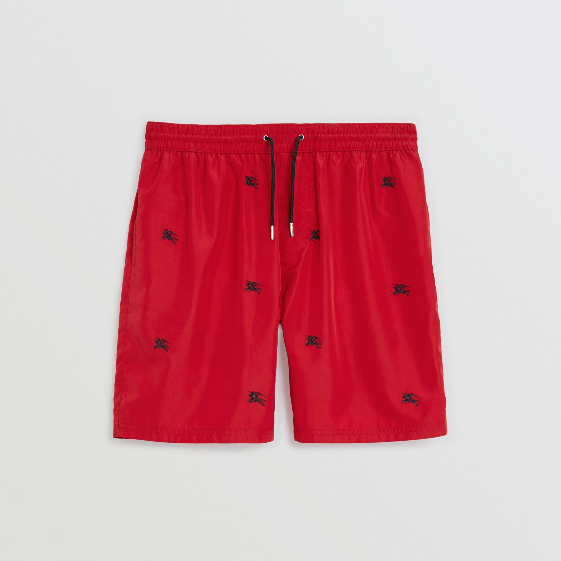 Archive Logo Drawcord Swim Shorts in Parade Red - Men | Burberry - gallery image 3