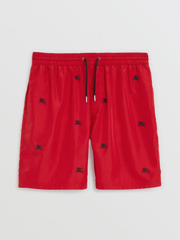 Archive Logo Drawcord Swim Shorts in Parade Red - Men | Burberry - cell image 3